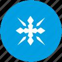 flake, nature, ornament, snow, winter icon