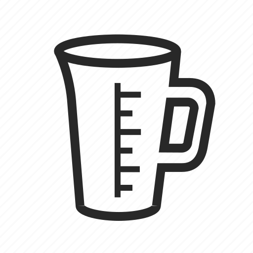 beaker, cup, kitchen, recipe, scale icon