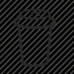 cappuchino, cardboard, coffee, kitchen, mokachino icon