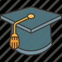 mortarboard, graduation, education, college, academy
