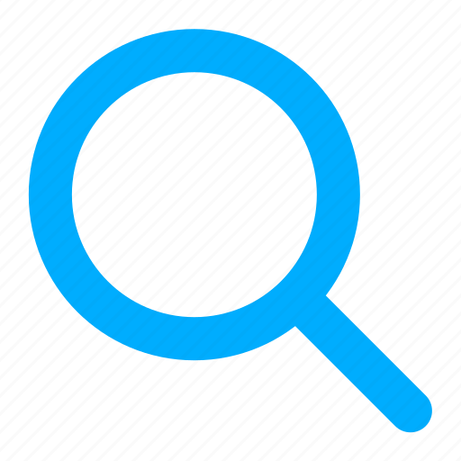 blue, find, glass, magnifier, search icon