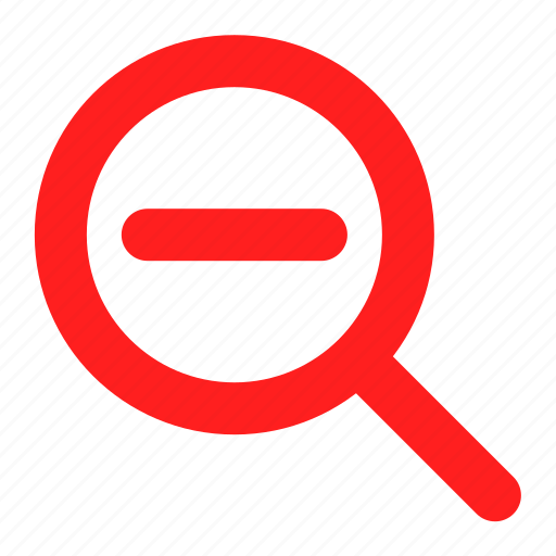 find, glass, magnifier, red, search icon