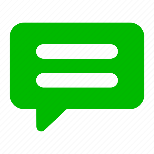 Green, bubble, chat, comment, message, talk icon - Download on Iconfinder