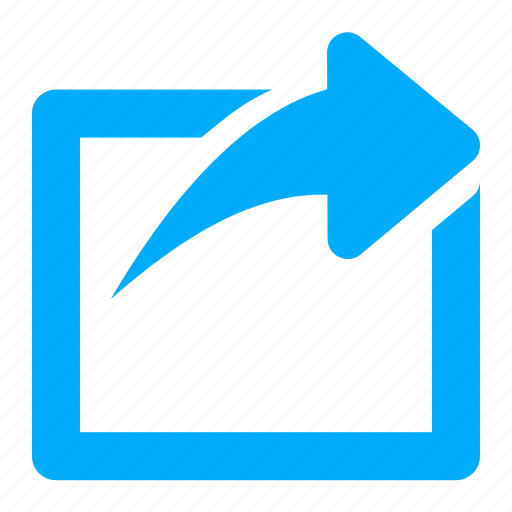 blue, link, new, open, outside, share icon