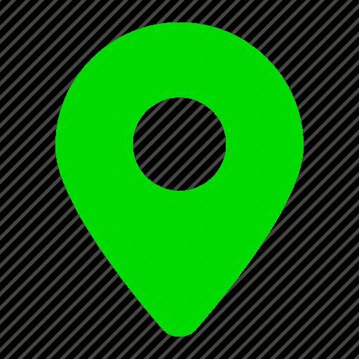 Address, gps, green, location, map, marker, navigation icon