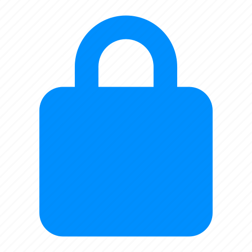 blue, lock, protect, safe, security icon