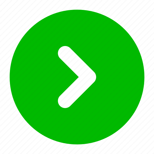 arrow, direction, green, next, right icon