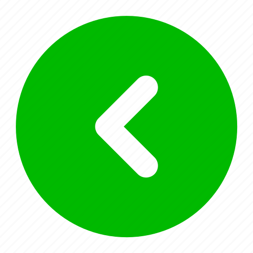 arrow, back, direction, green, left icon
