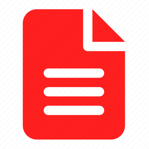 doc, document, file, office, red, text, word icon