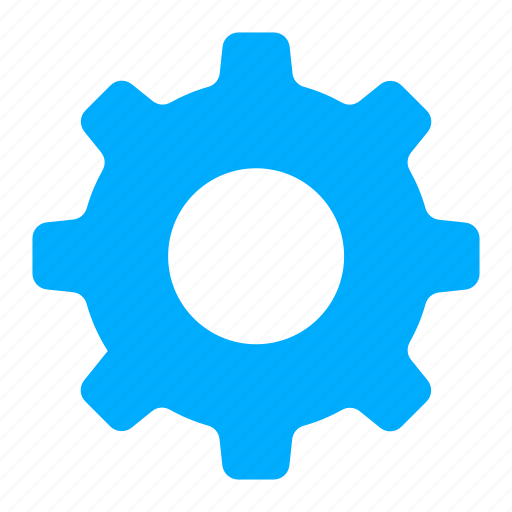 blue, control, gear, options, preferences, repair icon