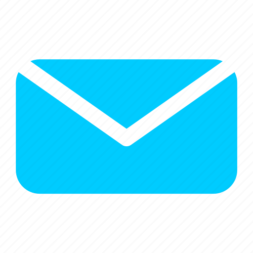 blue, email, envelope, letter, mail, message icon
