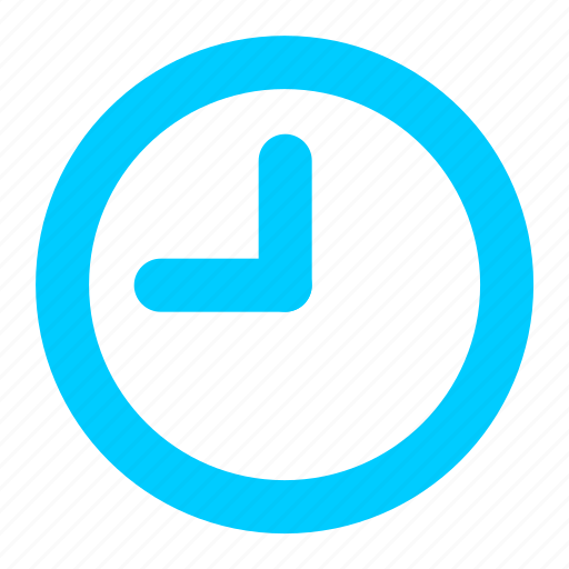 blue, clock, hour, realtime, time, timer, watch icon