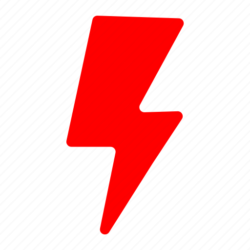 bolt, electricity, flash, lightning, power, red, storm icon