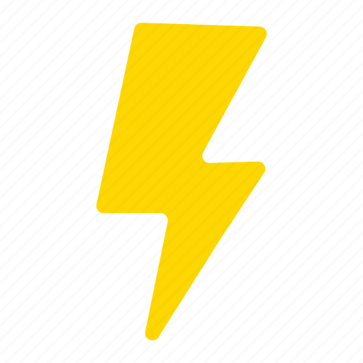 bolt, electricity, flash, lightning, power, storm, yellow icon