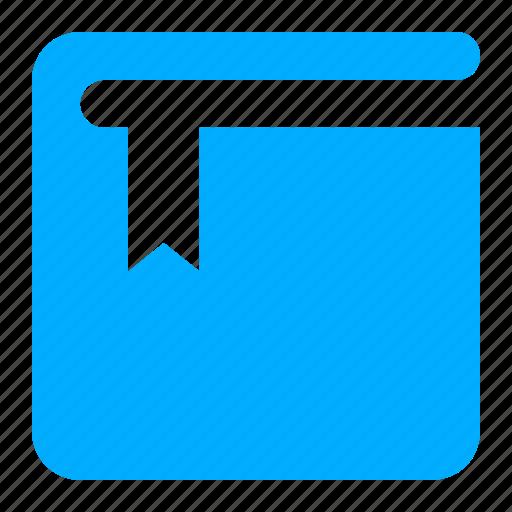 blue, book, bookmark, favorite, mark icon