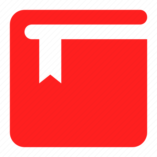 book, bookmark, favorite, mark, red icon