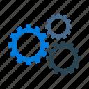 engine, gears, options, settings