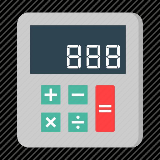 calculator, finance, math, money, school, taxes icon