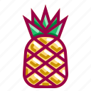 flavor, fruits, juice, pineapple, tropico icon