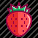 fruit, fruits, juice, red, strawberry, tropico icon