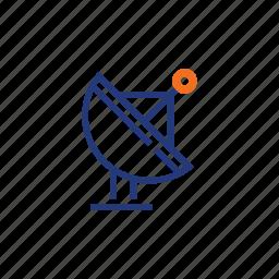 antenna, big, color, indigo, orange, wi-fi, wifi icon