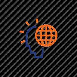 color, global, indigo, man, orange, twinkle icon