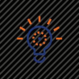 blub, color, creative, idea, indigo, orange, twinkle icon