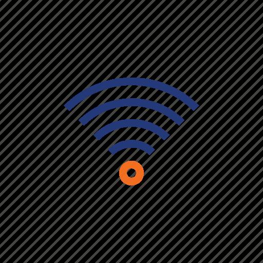 color, indigo, internet, it, orange, wi-fi, wifi icon