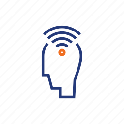 color, indigo, internet, man, orange, person, wifi icon