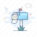 contact, email, mail, mailbox, message icon