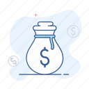 bag, cash, dollar, finance, money icon