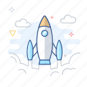 launch, rocket, spacecraft, spaceship, startup icon