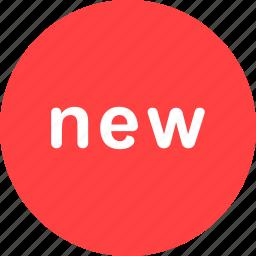 badge, new, tag icon