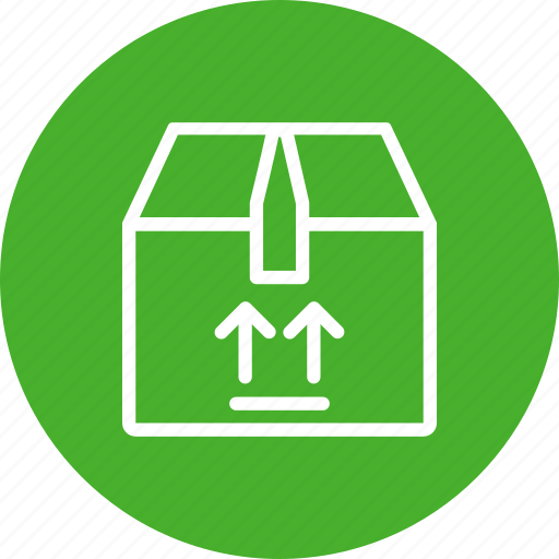 box, delivery, fragile, package, shipping, shopping icon