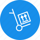 box, cart, delivery, fragile, shipping, shopping icon