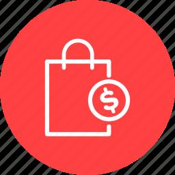 bag, buy, dollar, ecommerce, price, sale, shopping icon