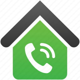 building, call center, company, home, office, phone, telephone icon