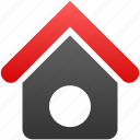 apartments, building, dog house, property, real estate, village icon