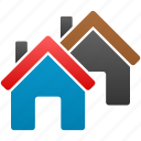city, homes, houses, property, real estate, residence, village icon