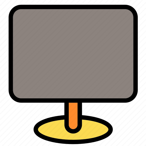 computer, desktop, display, monitor, pc, screen, tv icon