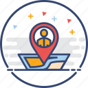 business, icons, location, people icon