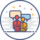 business, chat, icons, office, talk icon