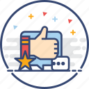feedback, icons, rating, thumb up icon