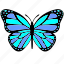 blue, butterfly, violet, wings icon