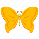 butterfly, golden, insect, wings