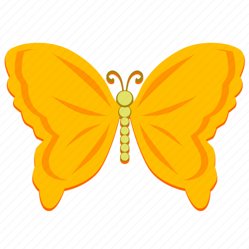 butterfly, golden, insect, wings icon