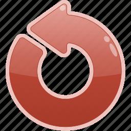 arrow, left, restart icon