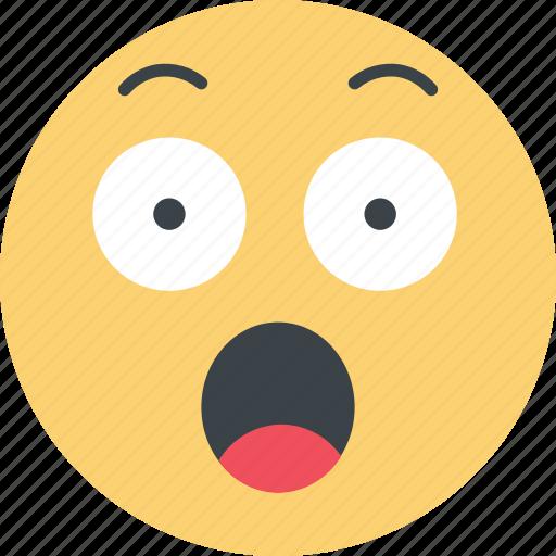 emoji, emoticon, emoticons, emotion, face, surpised, surprise icon