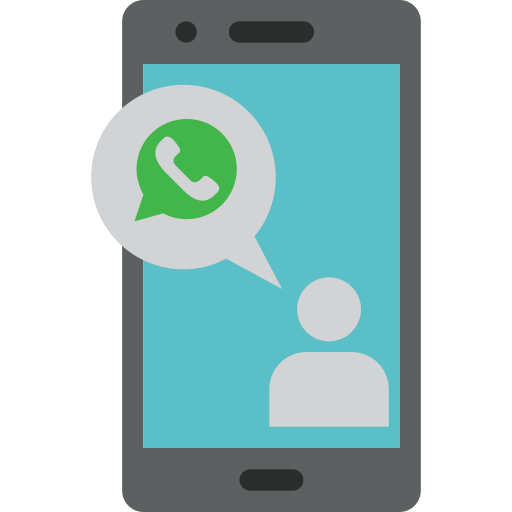 App, call, cell, mobile, phone, whatsapp icon