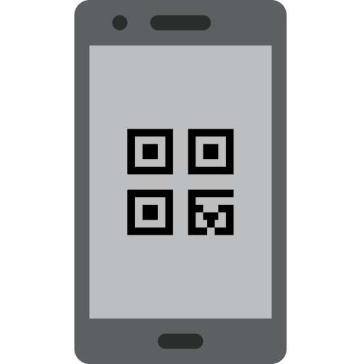 barcode, communication, interaction, mobile, phone, smartphone icon